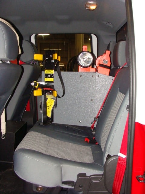Skidder Rear Bench Seat SCBA Mount